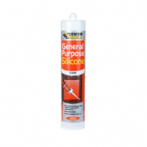 Everbuild GPSTR General Purpose Silicone Sealant Clear 280ml